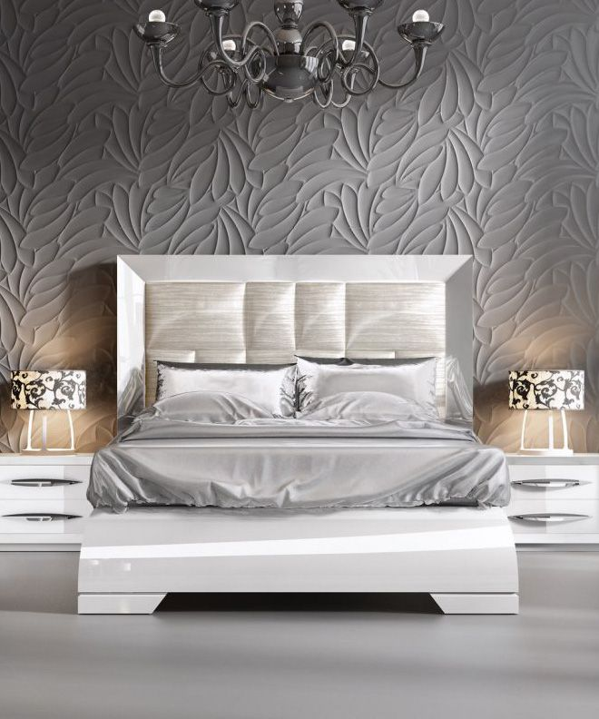 carmen bed in white by esf furniture