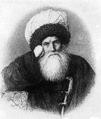 Imam Shamil.  (1797 – March 1871) was an Avar political and religious leader of the Muslim tribes of the Northern Caucasus. He was a leader of anti-Russian resistance in the Caucasian War and was the third Imam of the Caucasian Imamate (1834–1859).