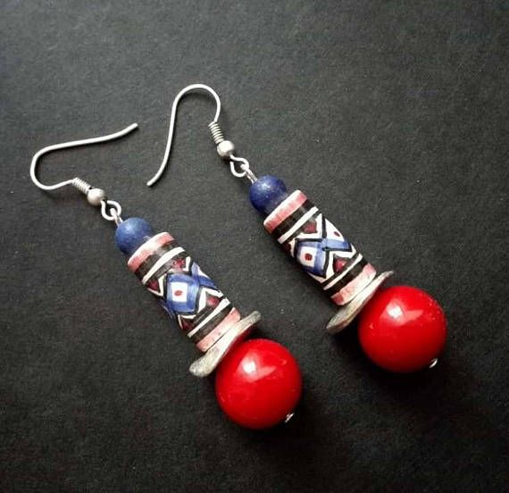 Hey, I found this really awesome Etsy listing at https://www.etsy.com/listing/561143398/ethnic-earrings-peruvian-ceramic