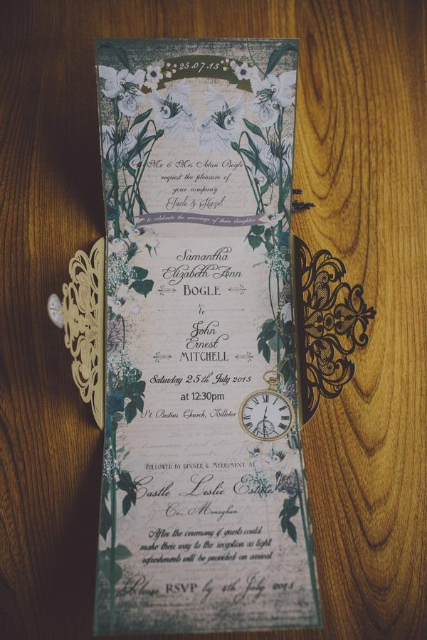 Midsummer Night's Dream inspired wedding invites    Image by Ten21 Photography