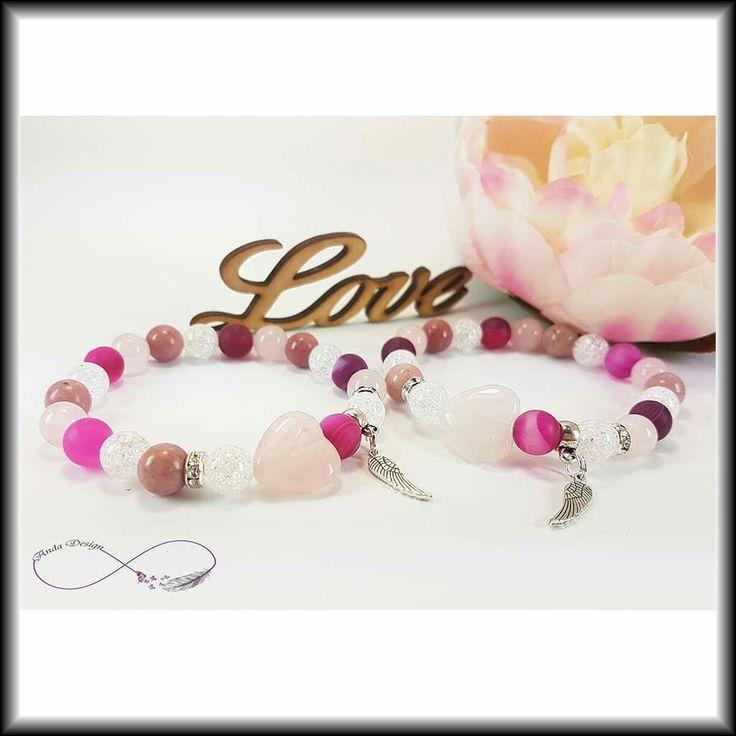 Gamestone, bracelet, beads, rose quartz