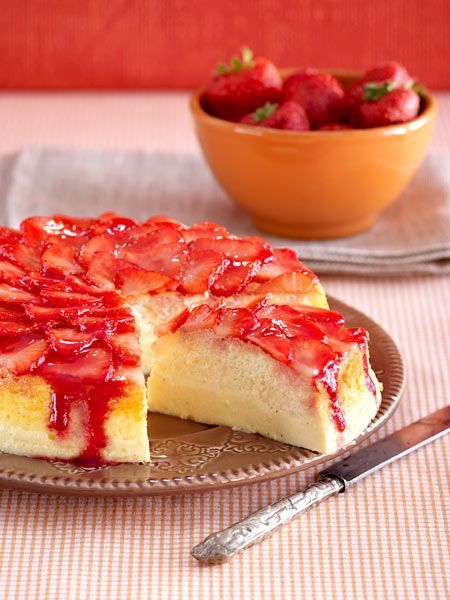 Erdbeer-Soufflée-Käsekuchen