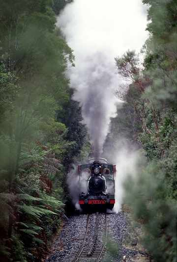 Abt train, Queenstown to Strahan, Tasmania