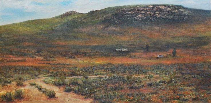 NEAR SPRINGBOK by Zelda Alistoun paintings Oil on canvas 900 x 600mm