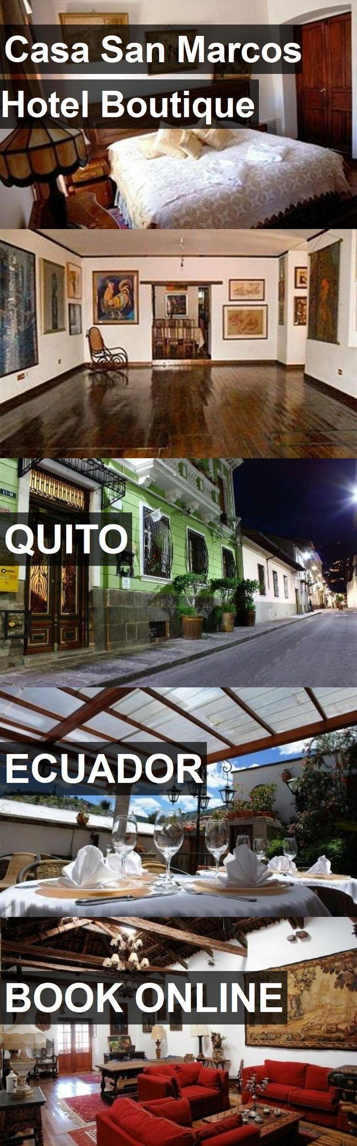 Casa San Marcos Hotel Boutique in Quito, Ecuador. For more information, photos, reviews and best prices please follow the link. #Ecuador #Quito #travel #vacation #hotel