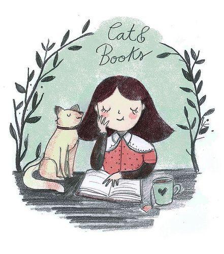 Mi gato y la lectura (ilustración de Giovana Medeiro)