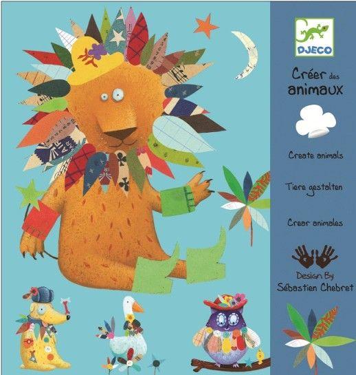 Veselé tvoření s papírem pro nejmenší! V této výtvarné sadě najdete základy 24 obrázků a velkou spoustu (424 ks) barevných samolepek, kterými dotváříte originální a vtipná zvířátka. Skvělá hra pro děti již od 3 let.