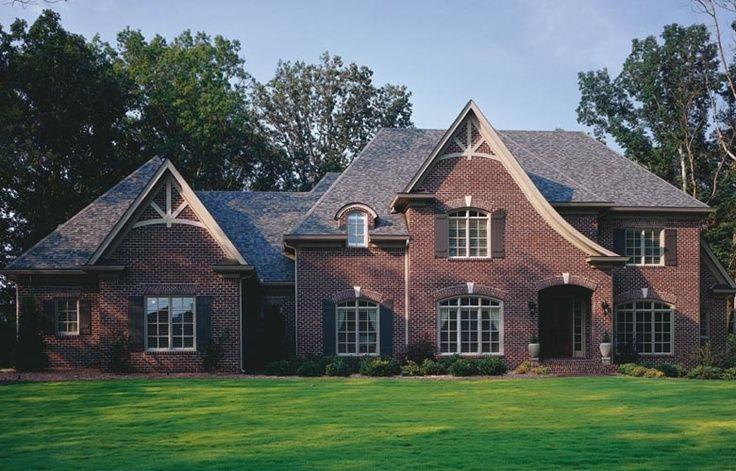 Dark Red Brick Home Exteriors Brick Color House