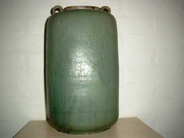 Arne Bang Ceramics. Floor vase in stoneware from 1950es. Signed AB. #arne #bang #ceramics #pottery #stoneware #vase #dansk #keramik #danish. SOLGT/SOLD.