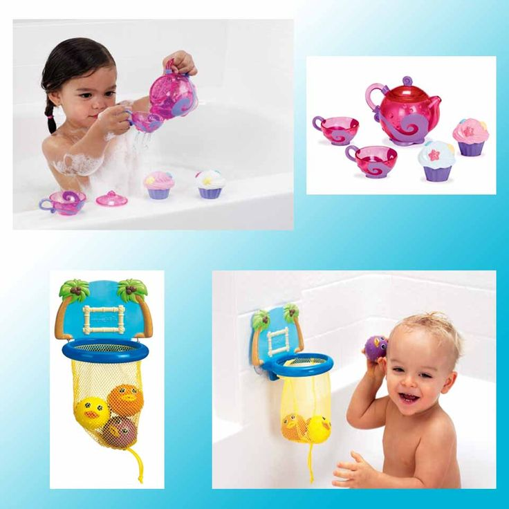 Bath toys by munchkin!  Tea-party for Girls and Bath Dunkers for Boys! http://babyglitter.gr/t/brands/munchkin/!/1/100/none/