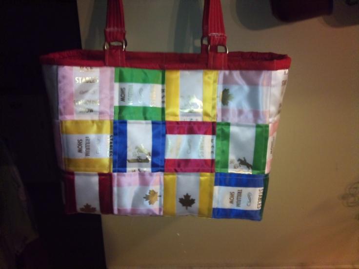 Horse Show Ribbon Tote Bag