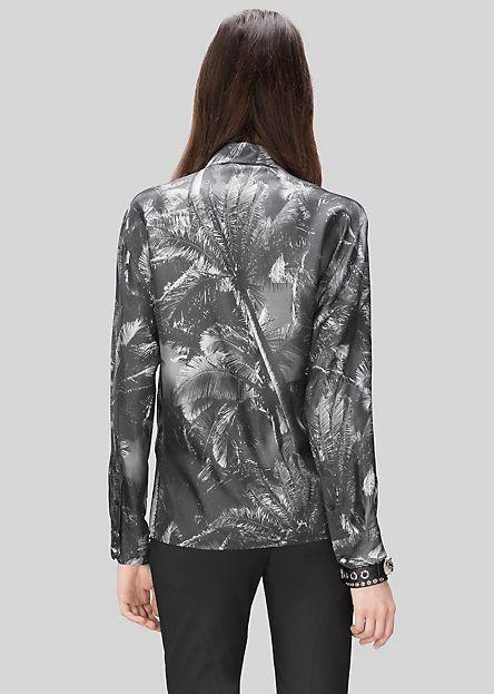 Camicia in seta Photographic Palm
