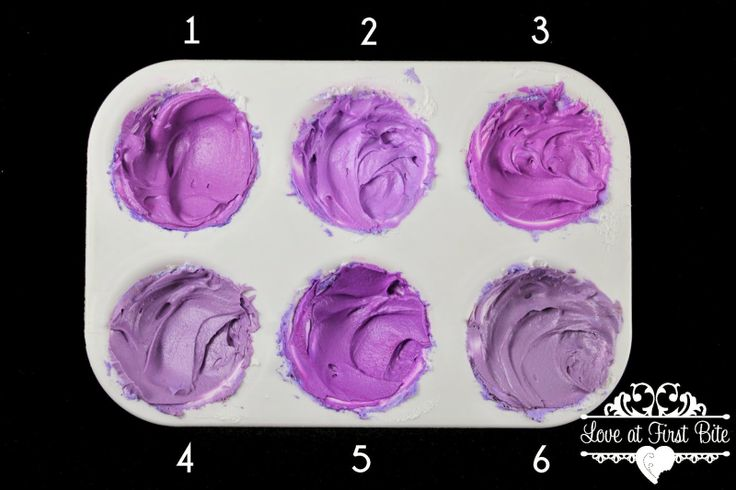 how to make mauve color icing