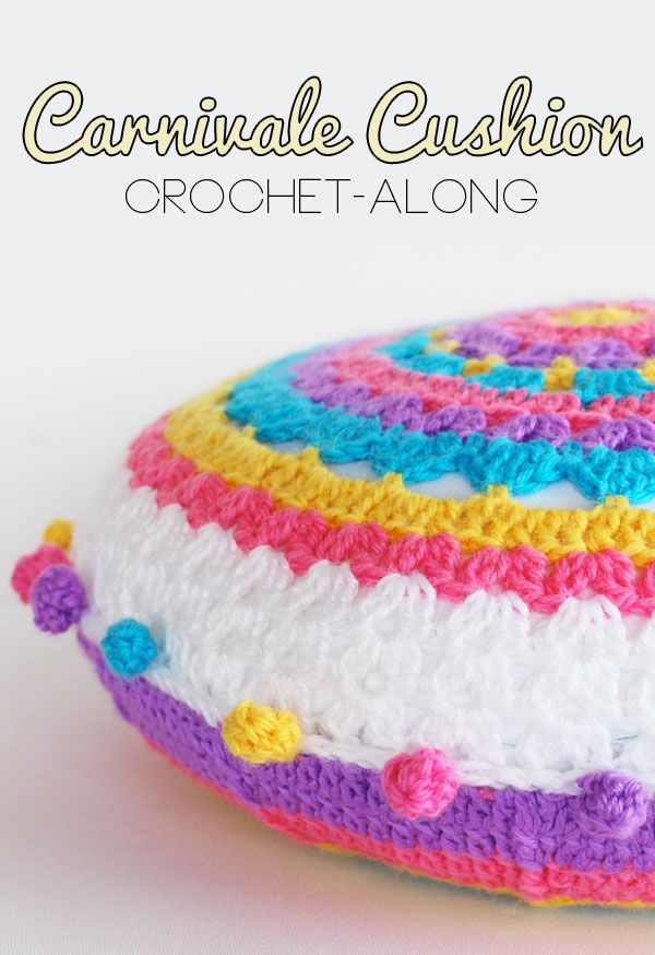 Carnivale Cushion: Crochet-Along Part 1 - a skill I will have to work at one day! This looks darn cute!