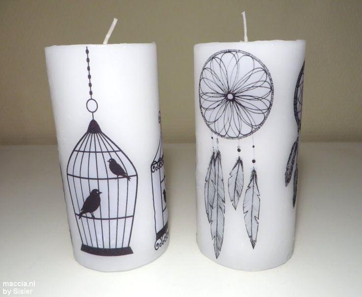 kaarsen versieren met afbeeldingen