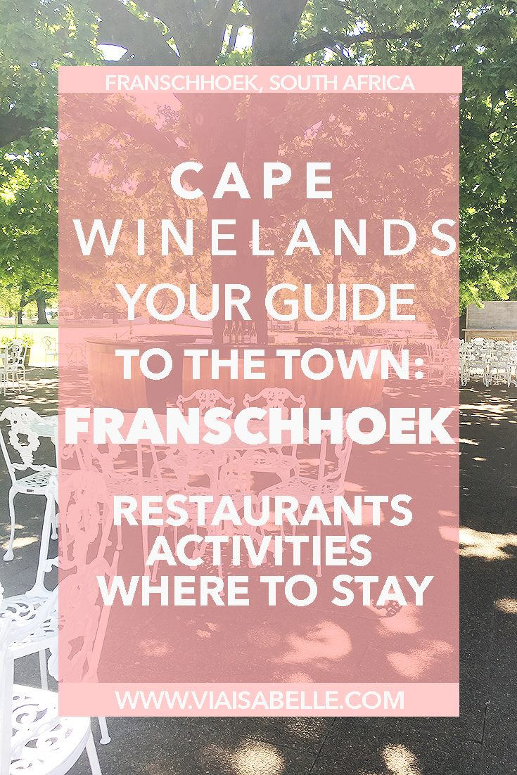 If you're looking for the best wine to go with one of the most gastronomical meals in the world, look no further than Franschhoek! It's a small town nestled in the outskirts of Cape Town that has at least 3 other restaurants listed as one of the top 50 in the world! WOAH. Here you'll find a guide, where to stay, and why Franschhoek is called the 'French Corner'!