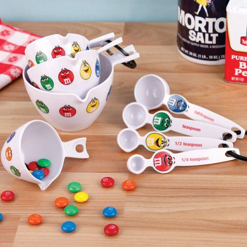 Cute M&M's 4 Measuring Cups And 4 Spoons Set Fun For ...