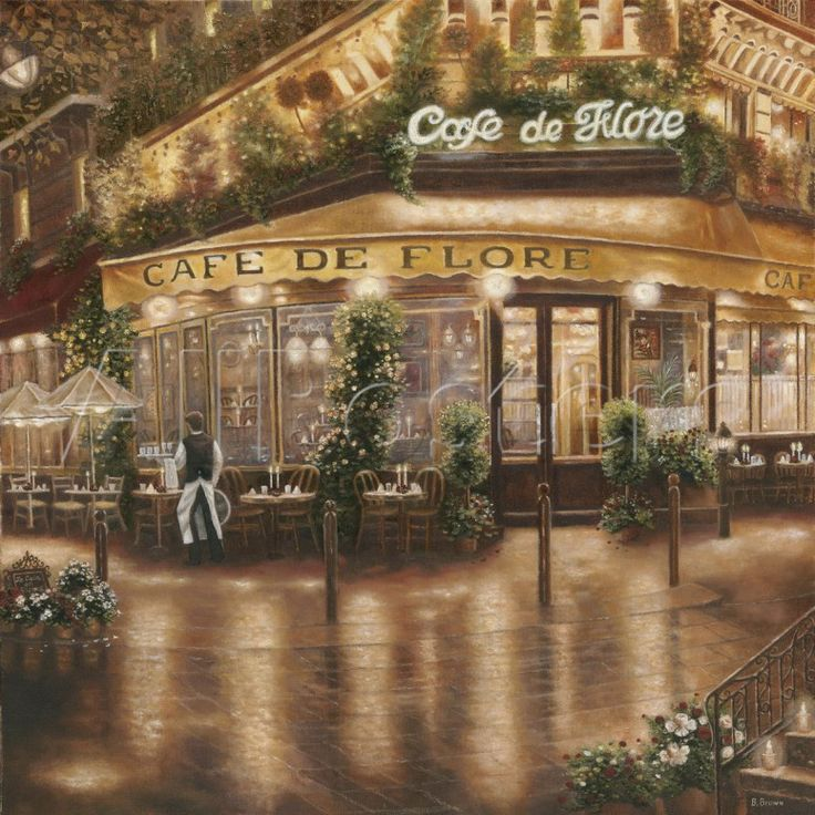 Cafe de Flore by Betsy Brown