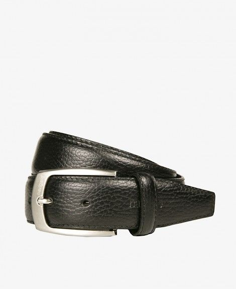 Bonded leather belt, printed, made in Italy, with metal buckle and Navigare logo | Navigare