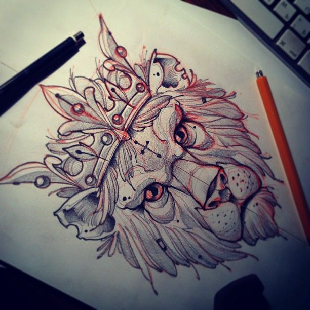 King lion drawing by @Mvtattoo (Instagram) | Tats ...