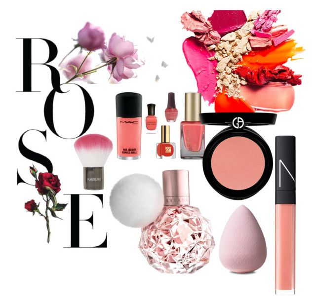 """""""Rosie"""" by megmegmarx on Polyvore featuring beauty, NARS Cosmetics, Topshop and Armani Beauty"""