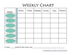 Download Free Printable Behavior Charts for Home and School
