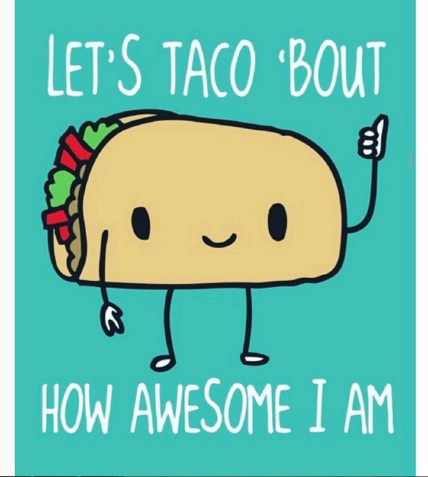 Clip the little taco guy and use it to make a taco Tuesday Flyer.