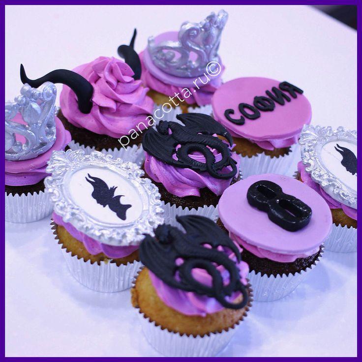 Maleficent cupcake #maleficent #maleficentcupcake   Капкейки Малефисента #капкейки #капкейкималефисента