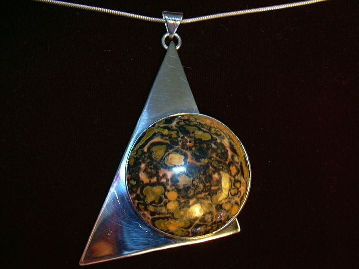 Handcrafted Leopard Jasper pendant by Chasing Destiny Silver