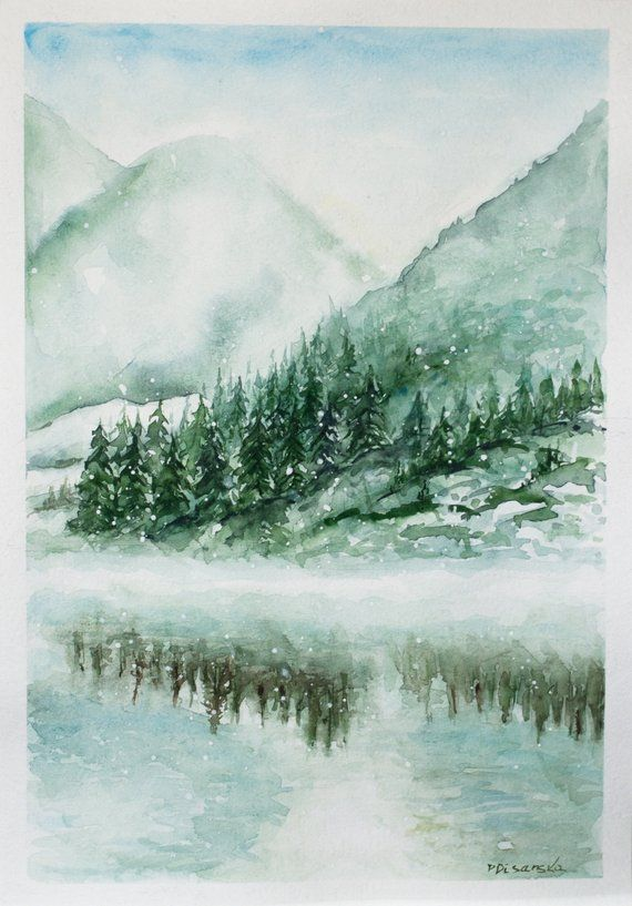 Winter Festive Painting Christmas Gift Ideas Christmas Watercolor Christmas Painting Snow Painting Christmas Watercolor Christmas Paintings Painting Snow