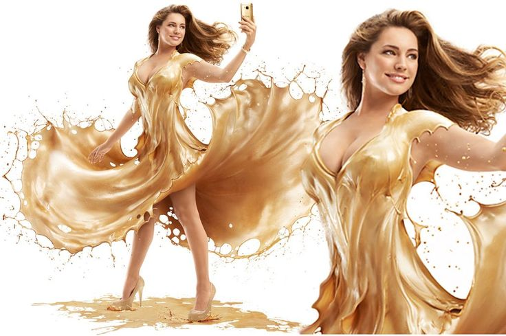Kelly Brook wears a LIQUID dress in stunning Marilyn Monroe-inspired shoot. #celebritystyle #kellybrook