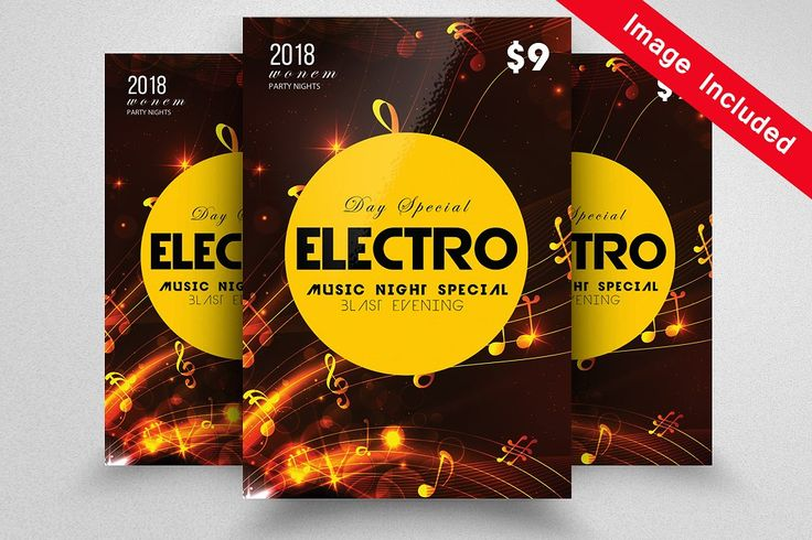 Electro MUsic Flyer Templates PSD