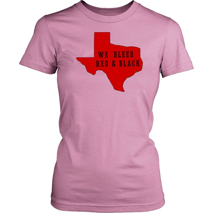 Texas Tech Red Background We Bleed Red and Black Women's T-Shirt Classic Fit