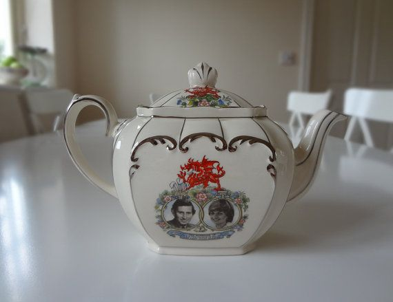 Sadler English Teapot Prince Charles and Princess Diana