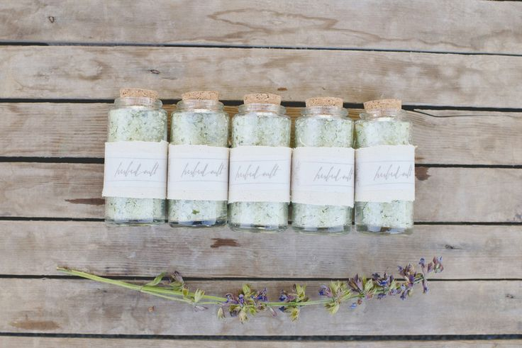 DIY Herbed Salt Favors. Photography by parkroadphotography.com  Read more - http://www.stylemepretty.com/2013/09/26/herb-infused-inspiration-from-alisa-lewis-event-design-and-park-road-photography/