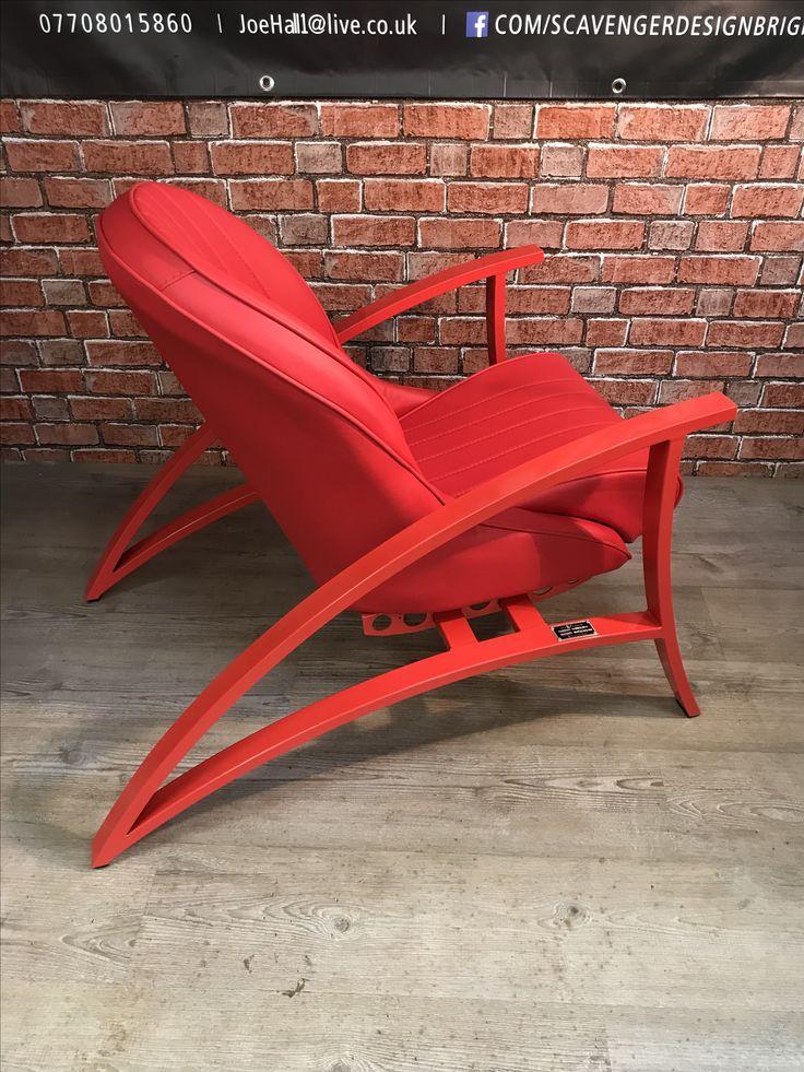 BAD BOY meets Scavenger. Classic bucket seat, matching colour handmade frame.