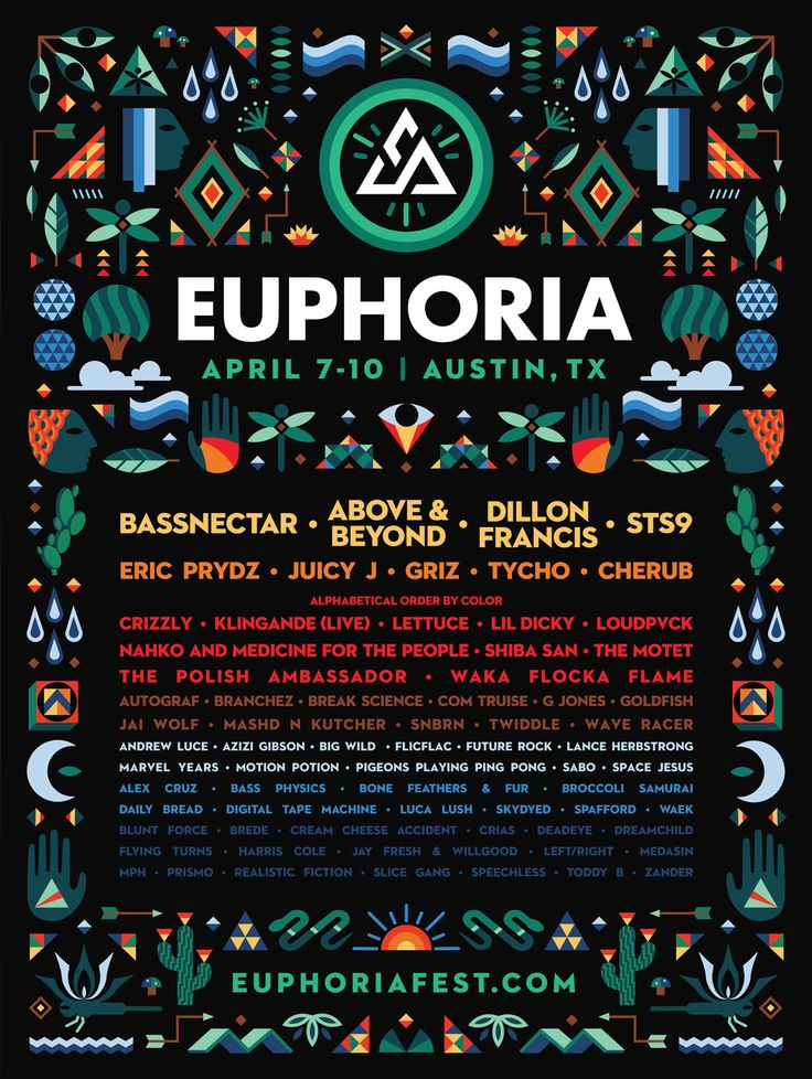 Euphoria Music Festival, Phase 2, Final Lineup