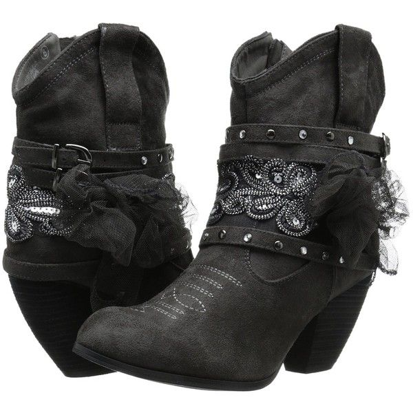 Not Rated Stash Women's Pull-on Boots ($80) ❤ liked on Polyvore featuring shoes, boots, ankle booties, ankle boots, slip on ankle boots, slip on boots, high heel bootie, buckle booties and sparkle boots