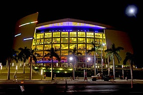 American Airlines Rena (Miami Heat Arena) designed by Arquitectonica