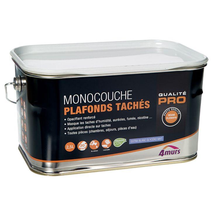 43580 peinture monocouche plafonds taches glycero blanc mat 2 5 l