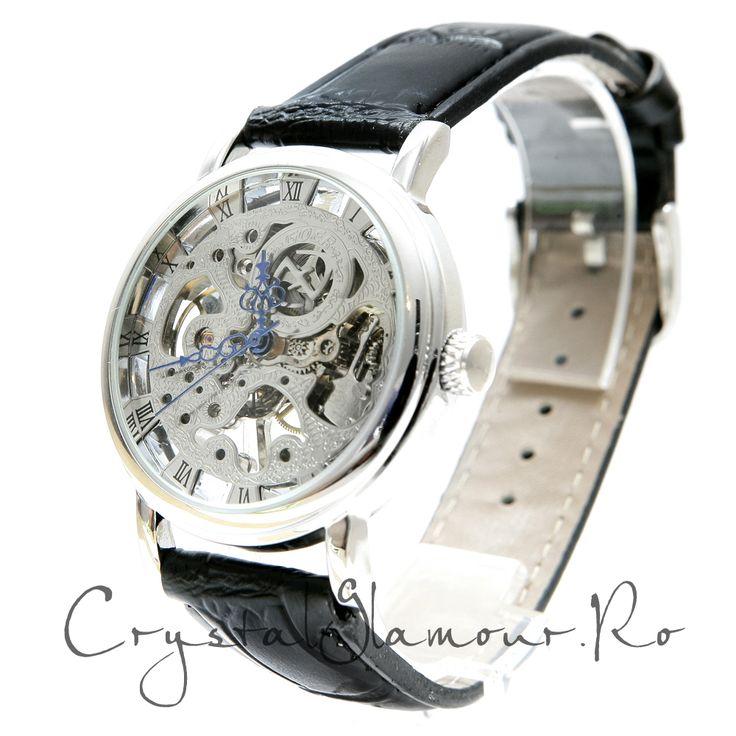 Ceas barbati Goer Medium Black - Crystal Glamour  Tel: 0727 48 48 48; 0758 61 45 19