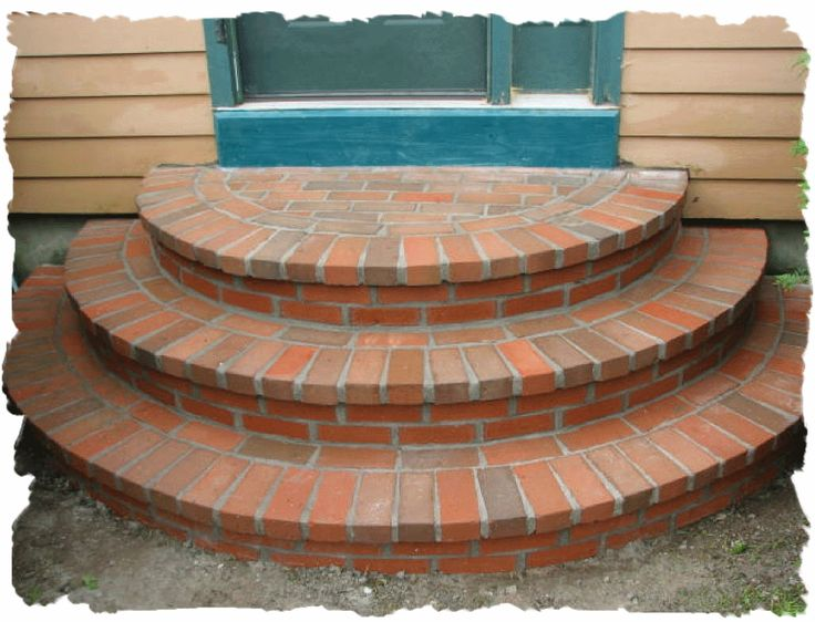 Front Walkway with Steps Ideas | Brick cresent steps built by Maine masonry steps contractor, RL ...