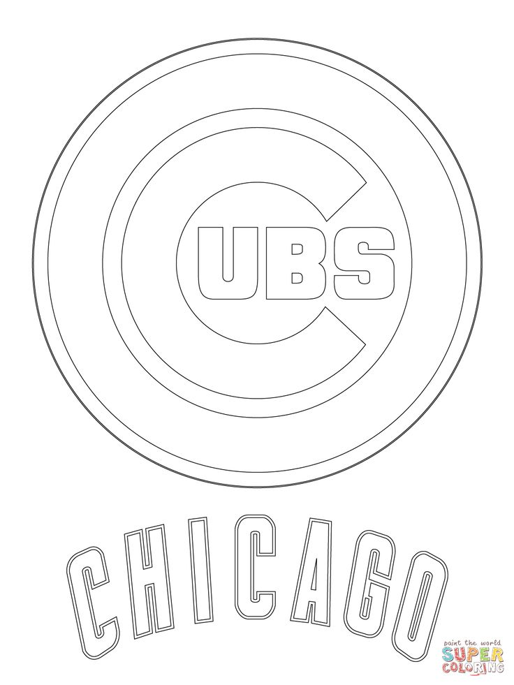 Chicago Cubs Logo | Super Coloring