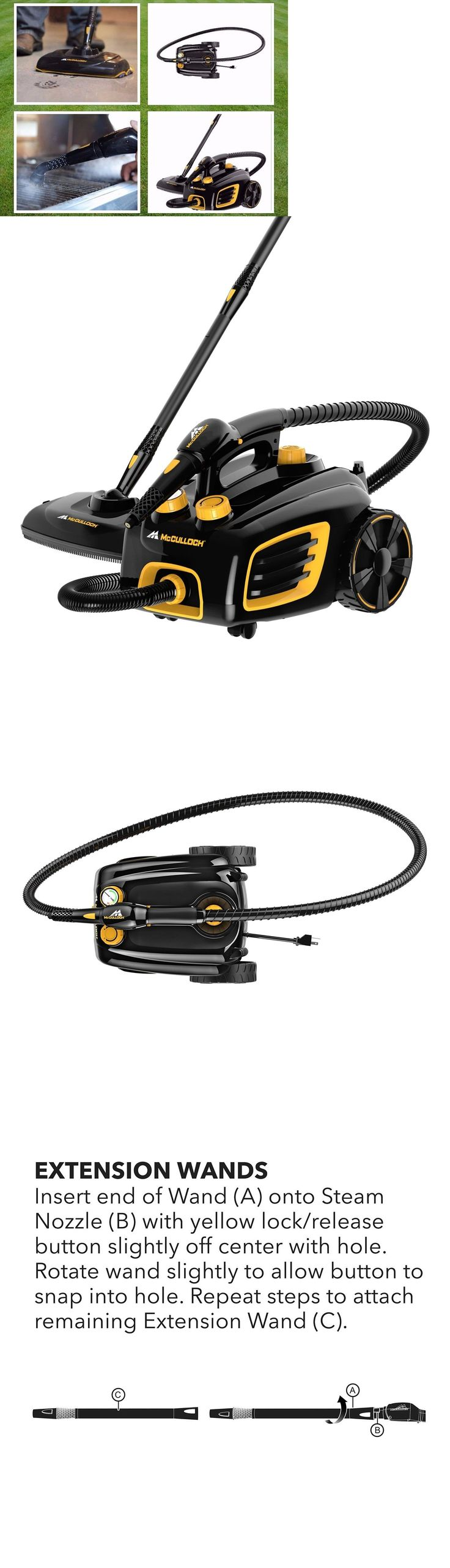 Carpet Steamers 79656: Mcculloch Mc1375 Deluxe Canister Steam System Powerful Carpet Cleaner Vacuum Mop -> BUY IT NOW ONLY: $224.52 on eBay!