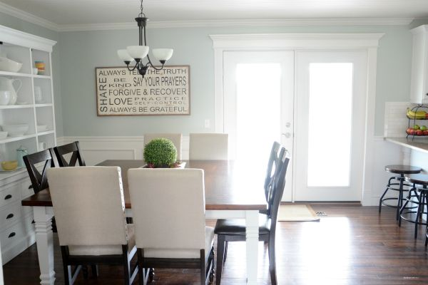Like the sign... Postcards from the Ridge: Favorite Paint Color ~ Benjamin Moore Quiet Moments