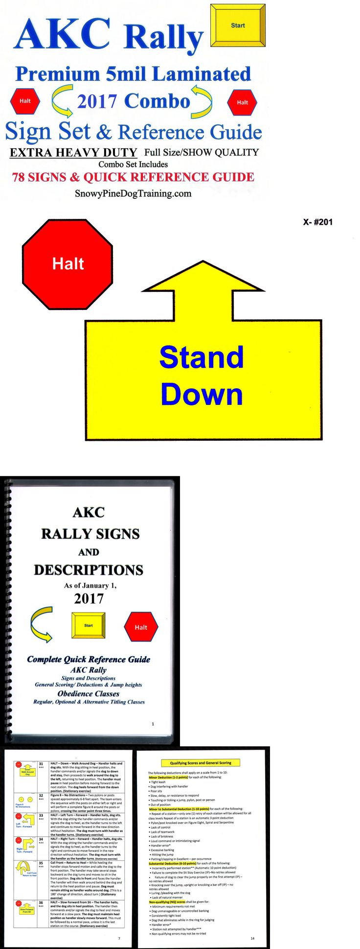 Other Dog Training and Obedience 146245: Akc Dog Rally 2017 Combo Sign Set Extra Heavy/5Ml Laminated Show Quality + Guide BUY IT NOW ONLY: $92.95