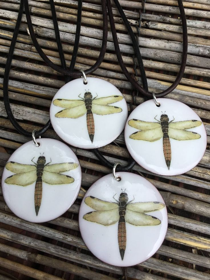 Enamel Dragonfly Necklace, eather Dragonfly Necklace, Nature Inspired Dragonfly Necklace by GloriaJanell on Etsy