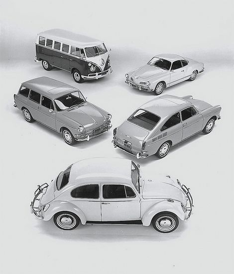 rmgdesign:  The 1966 VW model range. (via VW 1966 | iainclaridge.net)