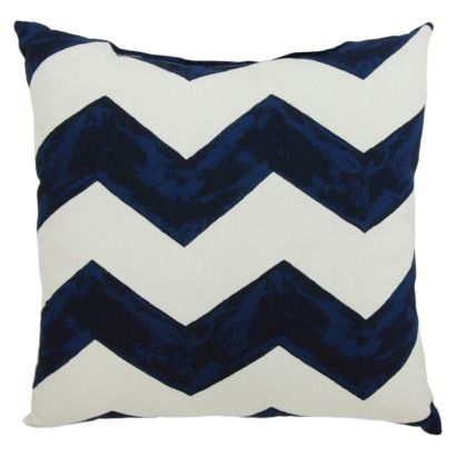 """TH 18"""" Pillow Navy Chevron at target for white adirondack chairs"""