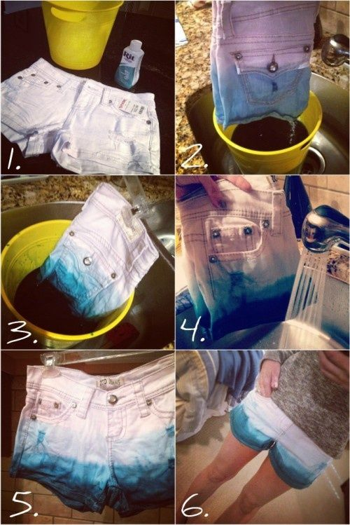 Im gonna do this! But I will probably start with blue jeans from Good-Will cut them into shorts bleach them till they are white then tie dye them! ;D